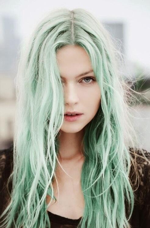 green color hair