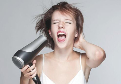 blow your hair with dryer