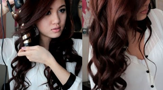 get loose wave hair by using curler iron