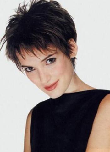 woman short hair