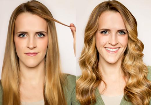 make your straight hair wavy