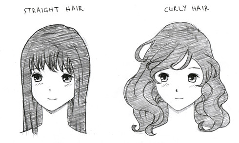 straight hair to curly hair