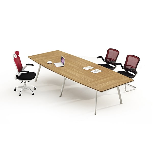 Oval conference table for office with metal legs