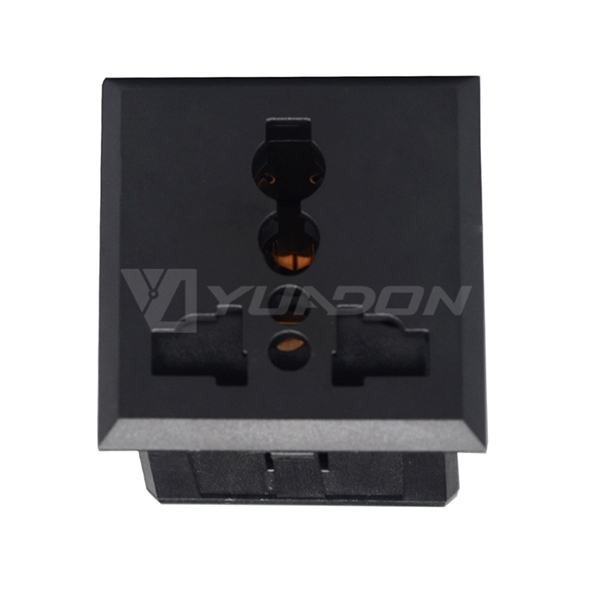 Universal electric socket with safety shutter power socket for UPS PDU equipment cabinet