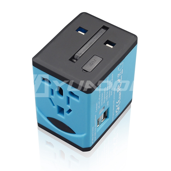 All in one universal travel adapter with usb port promotional gift euro uk aus usa adaptor universal adapter
