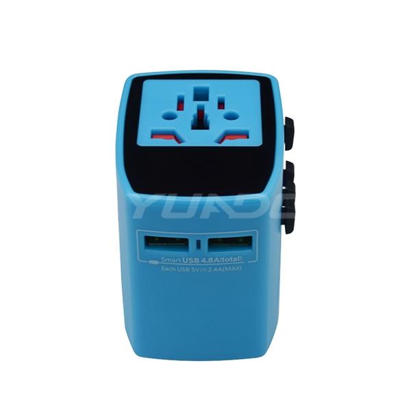 International Travel Adapter with USB Port USA/Australia/Europe/UK Plug USB