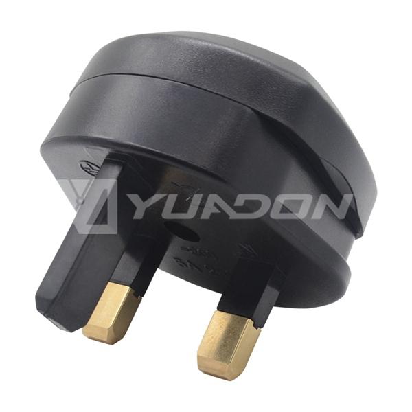 2 Pin to 3 Pin Adapter Euro Socket to UK Plug Travel Adapter