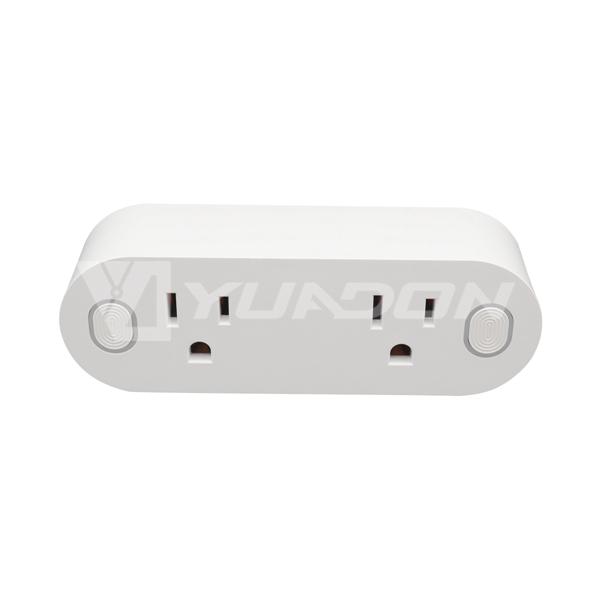 Smart plug with power meter 2-gang US Smart Socket smart plug alexa