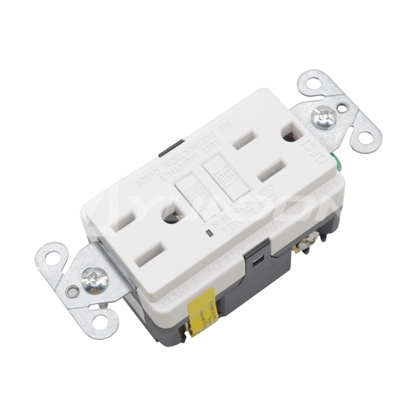 15A industrial Environments GFCI Receptacle white American 220v gfci receptacle