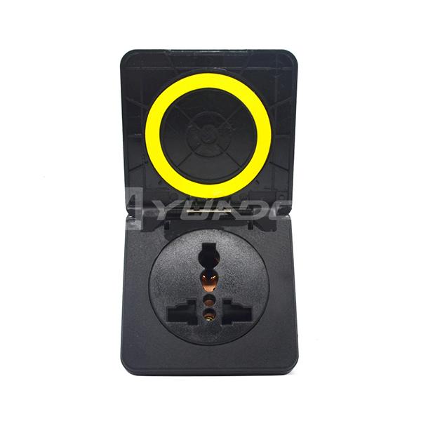 Universal waterproof socket for US UK Italy Swiss plug