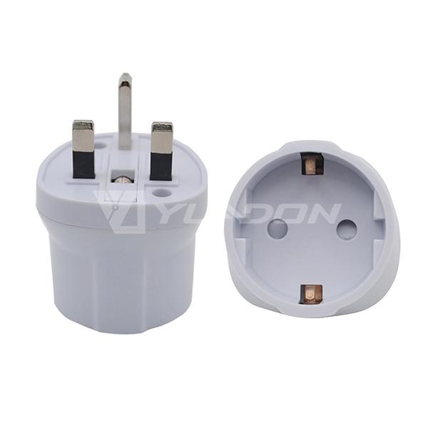 EU to UK plug adaptor Schuko to British travel adapter with BS8546 Certificate
