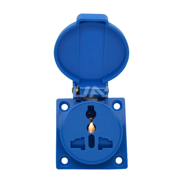 IP44 Universal Weatherproof Socket Waterproof Outdoor Socket Outlet