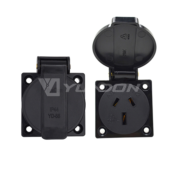 Australia waterproof Socket outlet with Round Cover IP44 15Amp & 10Amp