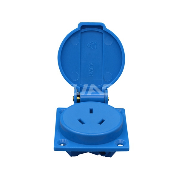 50x50mm 10A Chinese Electrical Outdoor Outlet Grounded New zealand Wall Waterproof Dust-proof Power Socket