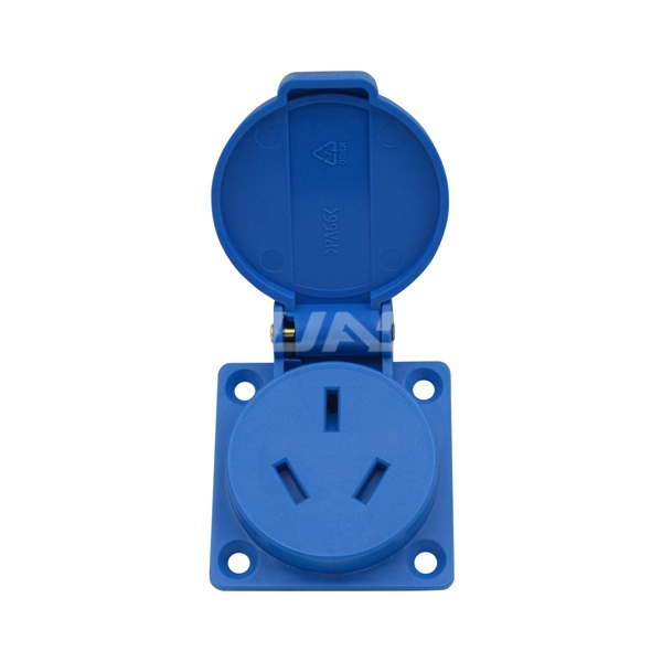 16A Chinese New Zealand Standard Electrical Outdoor Outlet Grounded Waterproof Dust-proof socket for audio equipment