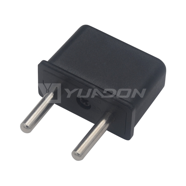 125-250V 6A Mini Adapter Electrical US to EU Adapter Plug 4.0mm pin USA Mini Electrical Plug