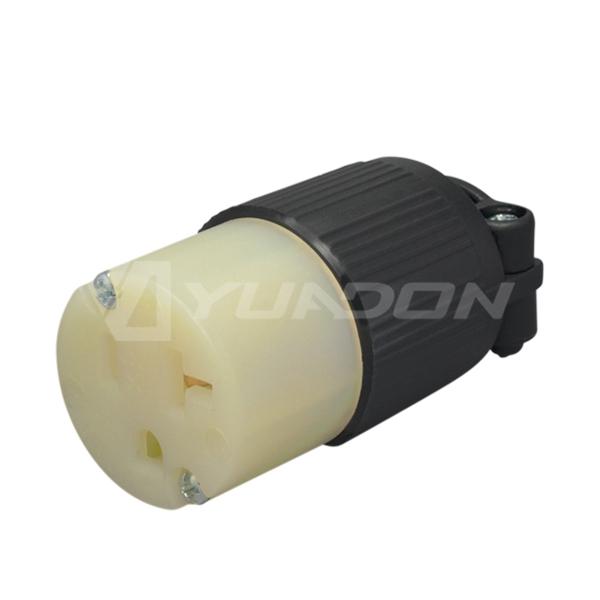 YD520C 15Amp 125 Volt AC 2-POLE,3-WIRE GROUNDING  American Industrial Grade Straight Blade female Connector NEMA 5-20R