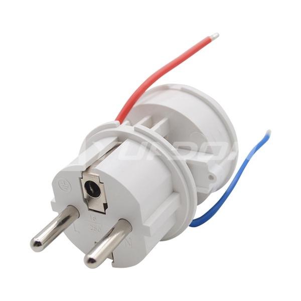 Type E to Type E Plug Socket French Plug Socket Adaptor France Rewirable FR Plug Version Adapter for Alexa Smart Plug