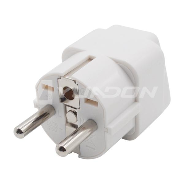 European Standard Indonesia Germany Power Travel Plug EU US To Germany Plug Socket for NEMA 5-15P Plug