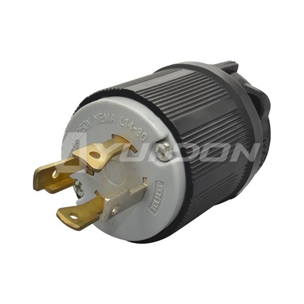 NEMA L14-30P Generator Power Plug Reliance Controls Twist Lock Plug 30-Amp 125/250-Volt Plug L1430P