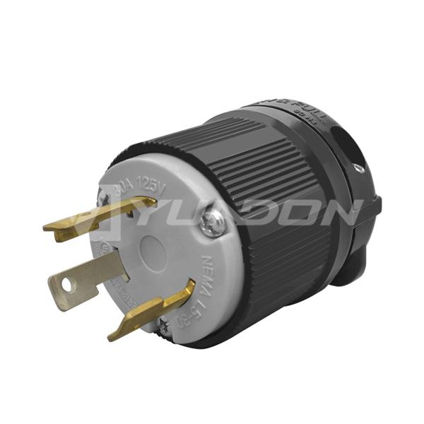 NEMA L5-30 Twistlock Male Plug 30 Amp 125v NEMA L5-30P Industrial Grade Locking Yuadon Nema plug receptacle Plug