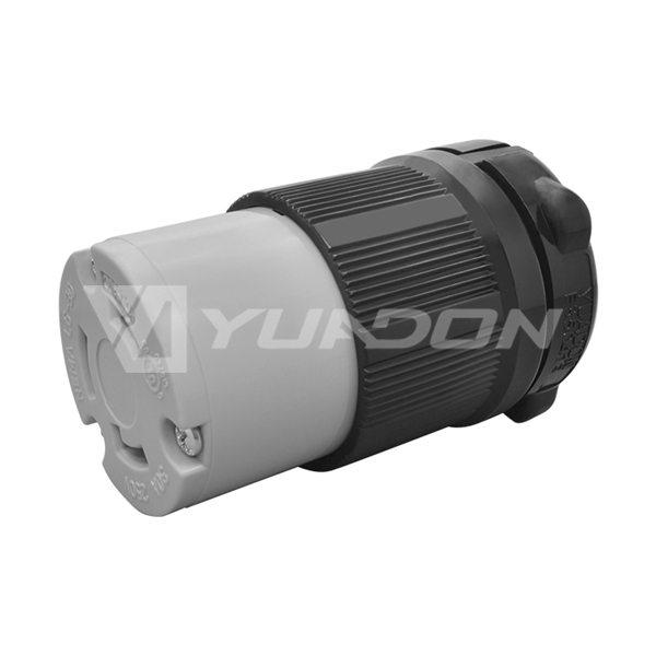NEMA L6-30R 30 Amp 250 Volt USA Locking Rewirable Connector American High Power Receptacle