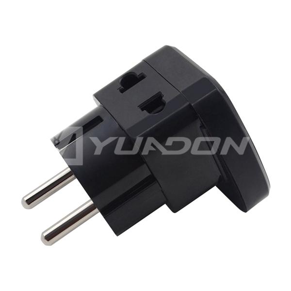 Multi-function Factory UK USA AU to EU european plug adapter universal to Schuko plug converter travel adapter