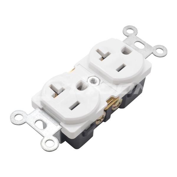 nema 5-20r receptacle 20A 125V commercial grade American Electrical duplex wall receptacles