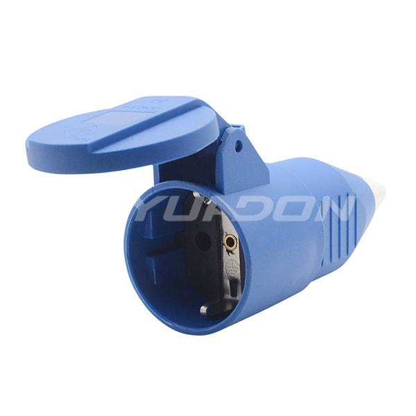 Germany Outlet Schuko Socket 16A / 250V Rubber Europe Plug Socket Type F Female Socket