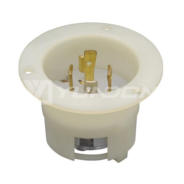 Nylon Copper NEMA L14-20P UL Locking Flanged Inlet American Standard Plug