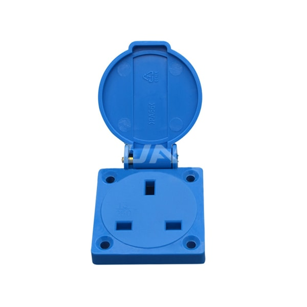 UK Waterproof Socket Outlet 13A Wall Socket IP54 Electrical Floor Outlet