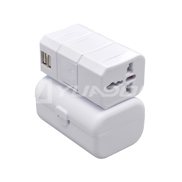 International Travel Adapter with USB Port USA/Australia/Europe/UK Plug USB