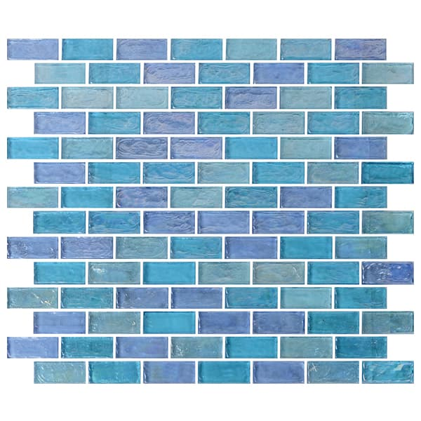 Coloured Glaze Material Stained Glass Mosaic for Swimming Pool Backspash Tiles Wholesale