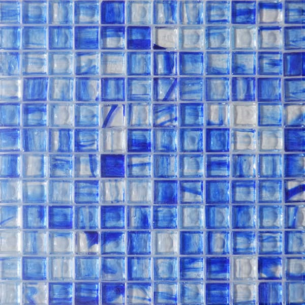 High Quality 23x23mm Stained Glass Mosaic for Bathroom, Kitchen Backsplash and Swimming Pool