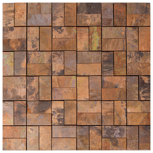Wholesale Square Size Copper Mosaic for Backsplash, Bathroom, Fireplace, Outdoor/Patio, Wall