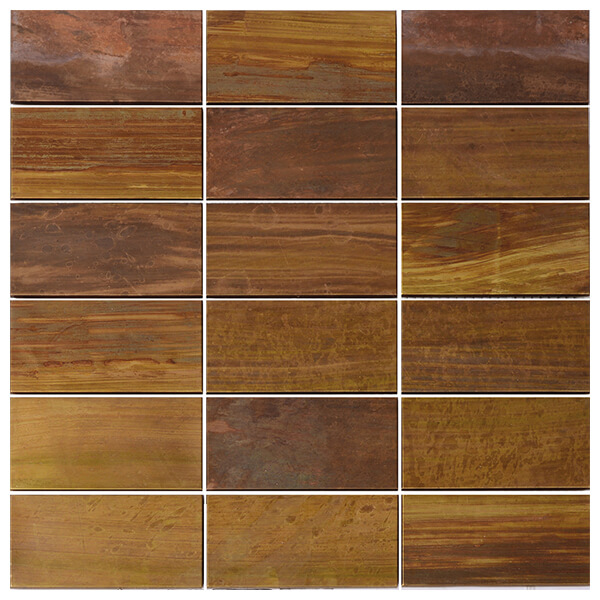 Unique Metal Material Copper Mosaic for Backsplash, Bathroom, Fireplace, Outdoor/Patio, Wall