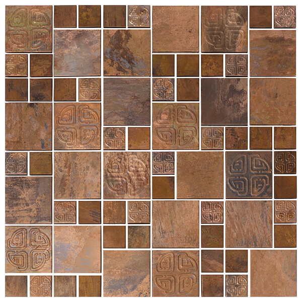 Creative Copper Mosaic for Backsplash, Bathroom, Fireplace, Outdoor/Patio, Wall