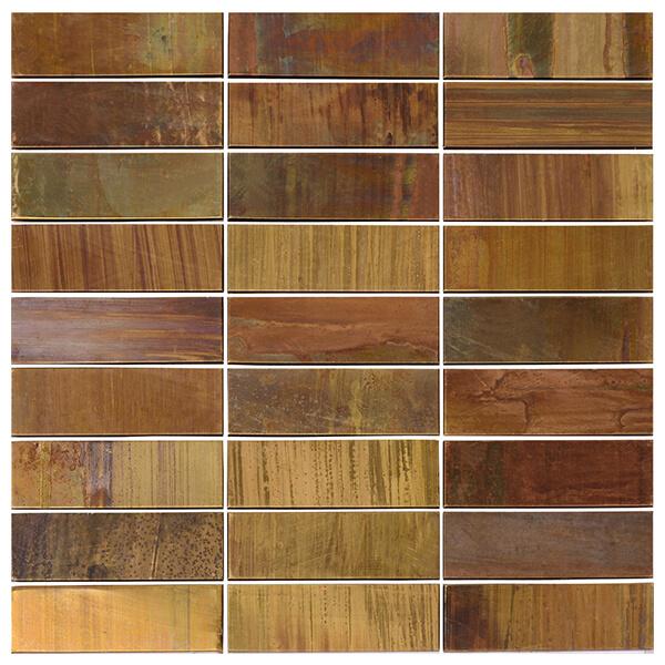 China Creative Copper Mosaic for Backsplash, Bathroom, Fireplace, Outdoor/Patio, Wall