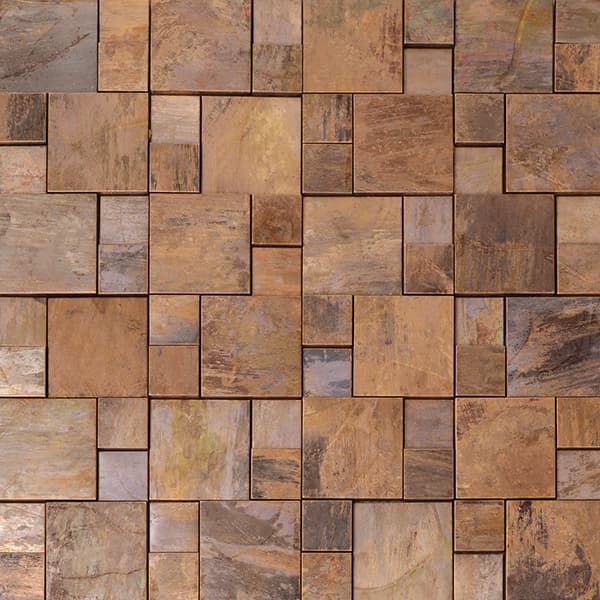 Decorative Square Size Copper Mosaic for Backsplash, Bathroom, Fireplace, Outdoor/Patio, Wall