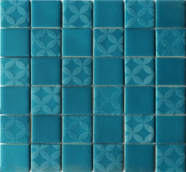 Fullbody Unglazed Glass Mosaic Tile Decoration Blue Glass Mosaic Tile