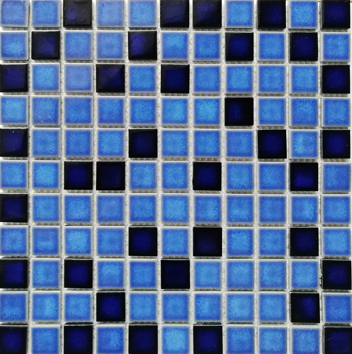 23x23mm Hot Sale Foshan Ceramic Blue Mosaic For Swimming Pool Decor
