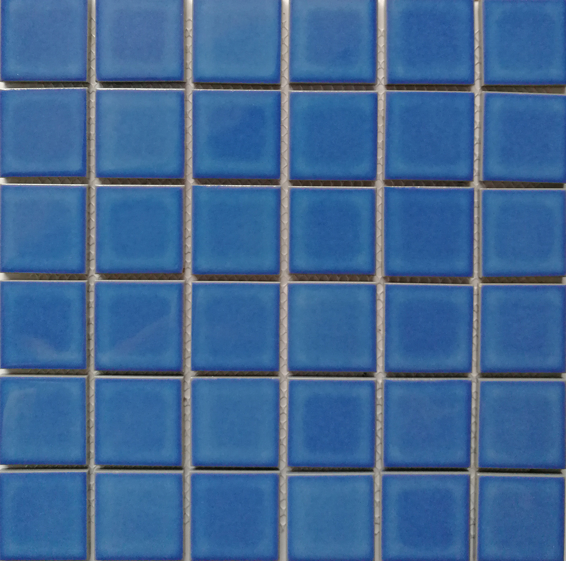 Factory Wholesale Price 2x2 Ceramic Blue Mosaic For Swimming Pool Waterline Accents