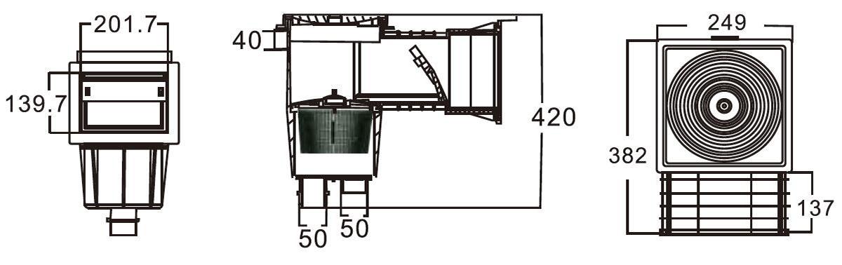 Standard Skimmer for Vinly Swimming Pool 02
