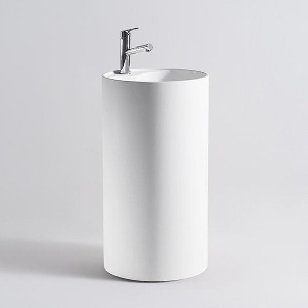人造石立柱盆 立体一体式人造石洗手盆 时尚卫浴柱盆 经典洗手柱盆 BS-L15