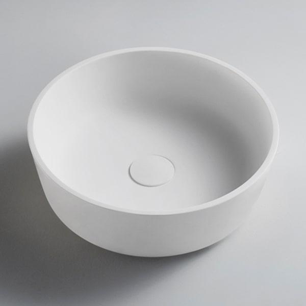 高端新款人造石台上艺术盆 独立式台上盆 圆形洗手盆BS-H336