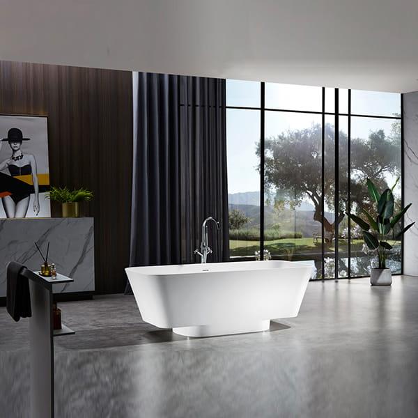 人造石浴缸 家用酒店长方形简约单人浴缸 小户型家用浴缸 厂家直销BS-315
