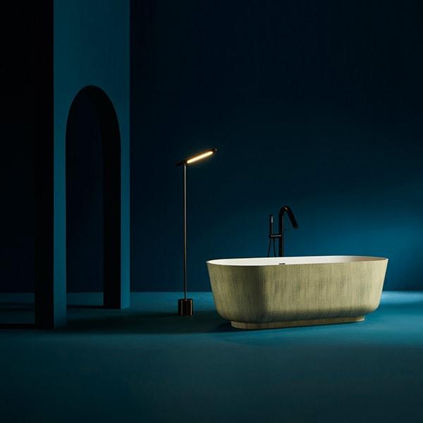 纯人造石浴缸 简易独立式浴缸 椭圆形酒店浴缸 产地货源直销BS-S30