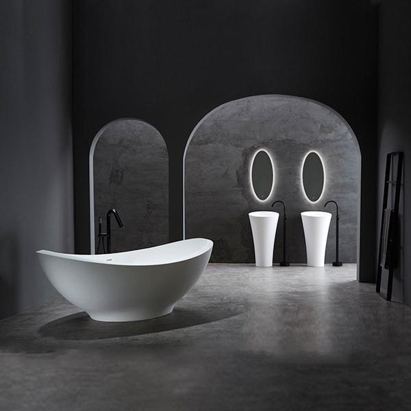 人造石浴缸 简约现代时尚浴缸 耐用人造石浴缸 卫生间泡澡浴缸 BS-S82