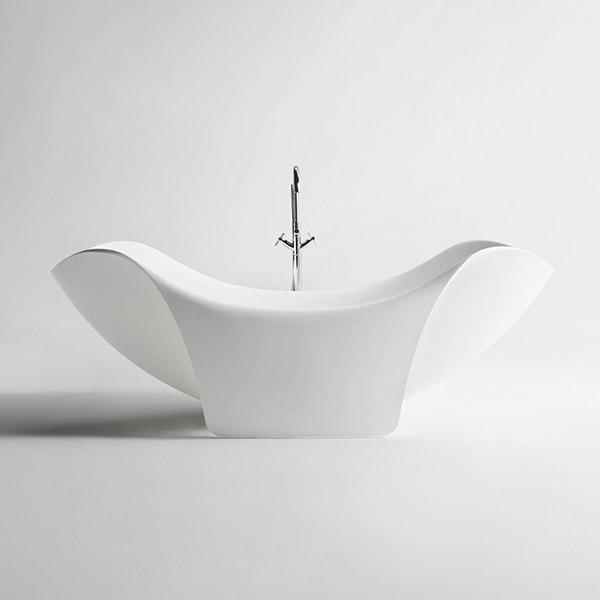 定制人造石浴缸 独立式创意艺术浴缸 酒店公寓浴缸BS-S83