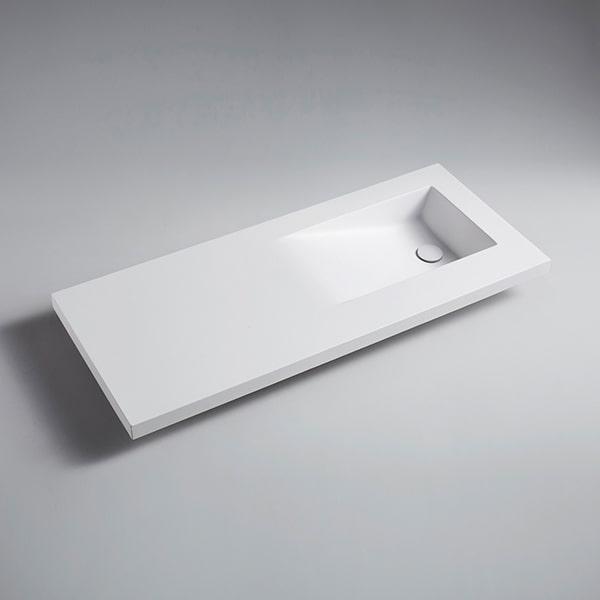 人造石柜盆 酒店卫生间陶白洗手盆 卫浴洁具人造石面盆BS-1000-3